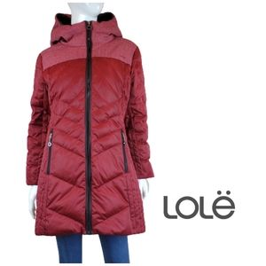 LOLE Down Filled 3/4 Length Quilted Puffer Coat Parka